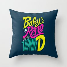 Baby's in Reno Throw Pillow