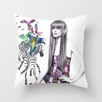 Tropic mood  Throw Pillow