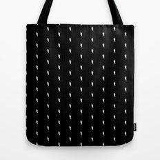 lightning bold pattern black Tote Bag