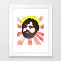 Zach Galifianakis Died F… Framed Art Print