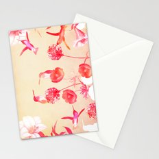 Hummingbirds in the garden Stationery Cards