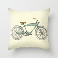 Retro-bicycles (1903) Throw Pillow