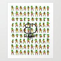 Jah Luv BD - BD X RC Gra… Art Print