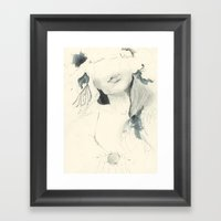 Selfie Portrait Framed Art Print