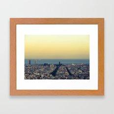 Barcelona view Framed Art Print