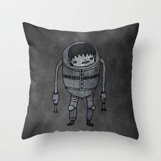 Cyborg Robot Zombie-boy Throw Pillow
