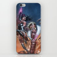 Psylocke vs Sabretooth iPhone & iPod Skin