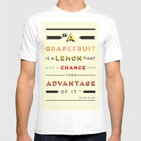 Oscar Wilde: A Grapefrui… Mens Fitted Tee White SMALL
