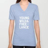 YOUNG WILD & FREELANCE Unisex V-Neck