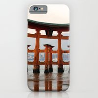 iPhone & iPod Case featuring Itsukushime Shrine Torii Gate by Michelle Chavez
