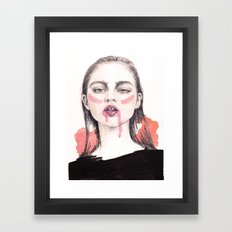 It's A Love/Hate Relationship With the Color Pink Framed Art Print
