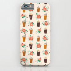 Coffee floral bouquet coffee lovers java bean cute pattern print for kitchen iPhone 6s Slim Case