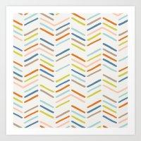 Mixed Herringbone - In B… Art Print