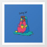 penguine Art Print