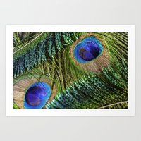 Peacock Eye And Sword Art Print