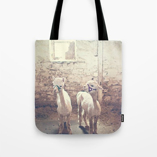 Young Alpacas  Tote Bag
