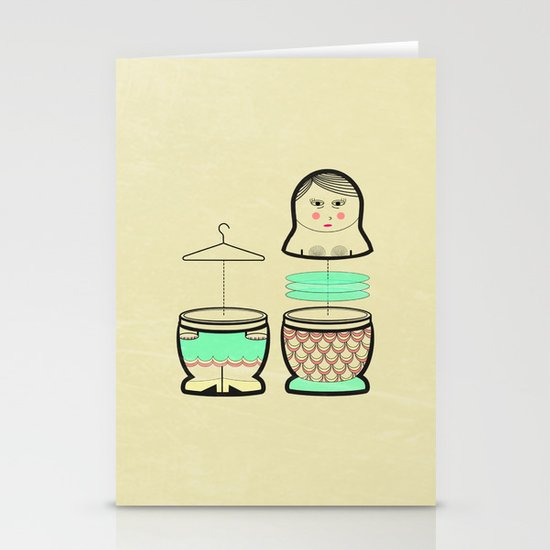 The mermaid who was tired of her tail ... Stationery Card