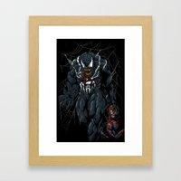 Vicious Venom Violence Framed Art Print