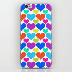 Bright hearts iPhone & iPod Skin