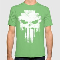 Space Punisher Mens Fitted Tee Grass SMALL