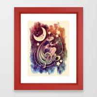 The Moon And The (Rock)S… Framed Art Print