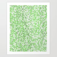Pattern Mosaic Serie Gre… Art Print