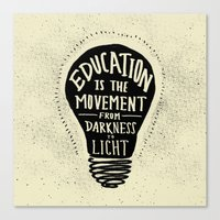 Education: Darkness to Light Canvas Print