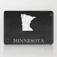 Minnesota State Map Chalk Drawing iPad Case