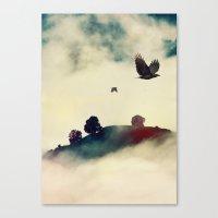 Send a raven Canvas Print