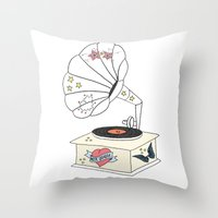Music Grandpa Throw Pillow