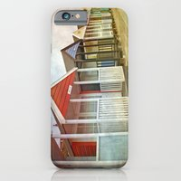 iPhone & iPod Case featuring Beach Huts by ALLY COXON