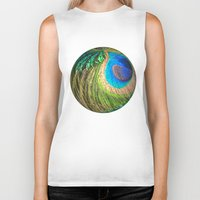 Peacock Eye And Sword Sp… Biker Tank