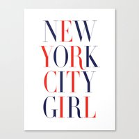 New York City Girl Canvas Print