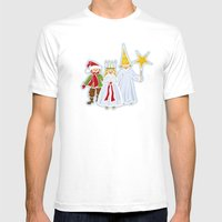 Happy Holidays Says Sain… Mens Fitted Tee White SMALL