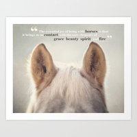 Grace, Beauty, Spirit & … Art Print