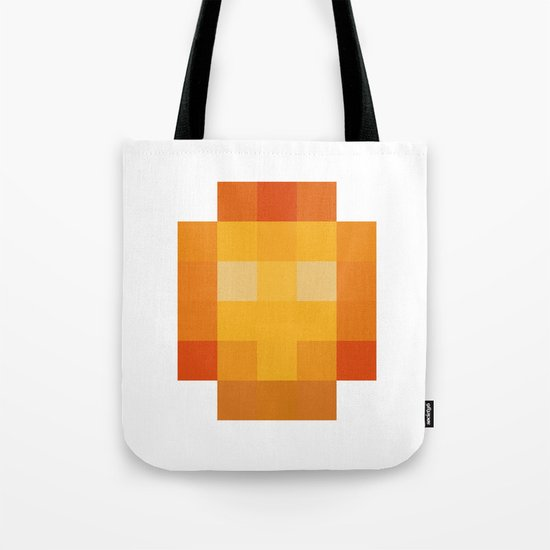 hero pixel red yellow Tote Bag