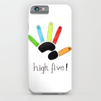 iPhone & iPod Case featuring High Five! by filipa nos campos