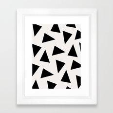 Black Triangle Pattern I… Framed Art Print