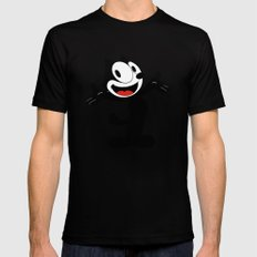Felix the Cat  Mens Fitted Tee SMALL Black