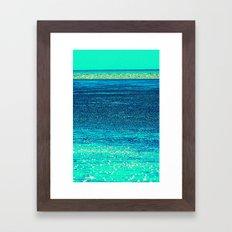 Azure Calm Framed Art Print