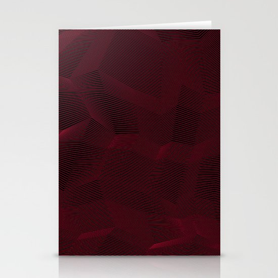 Facets - Dark Purple Stationery Card