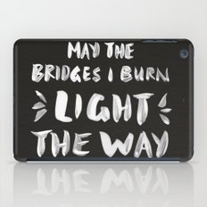 Burned Bridges – Black & White iPad Case