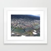 Portland from Above Framed Art Print
