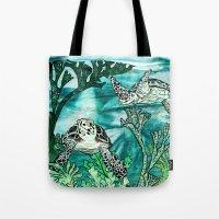 Myrtle Turtle. Tote Bag