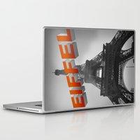 eiffel Laptop & iPad Skins featuring Eiffel by vin zzep