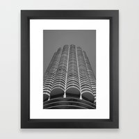 Marina City Tower Photo, Chicago, Architecture Framed Art Print