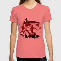 The Bloody Stormtrooper Womens Fitted Tee Pomegranate SMALL