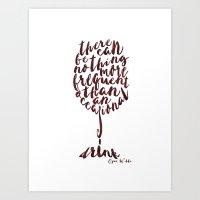 Drink - Oscar Wilde Art Print