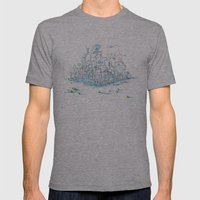 Scientist Frog Mens Fitted Tee Athletic Grey SMALL
