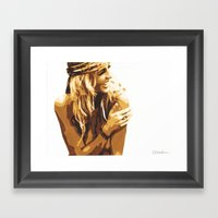 Sitting In The Grass, If… Framed Art Print